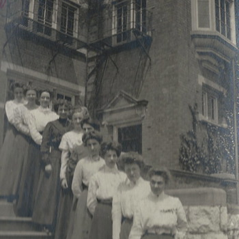 "At the college door step with friends""1910"" - Photographs"