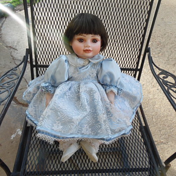 Vintage Glass Eye Doll Signed On Neck Need ID