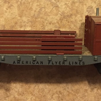 American Flyer train cars assorted