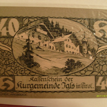 Paper Money Austria - World Coins