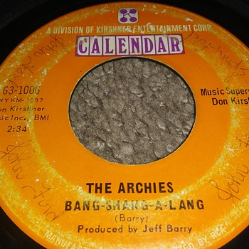Their First..The Archies..On 45 RPM Vinyl - Records