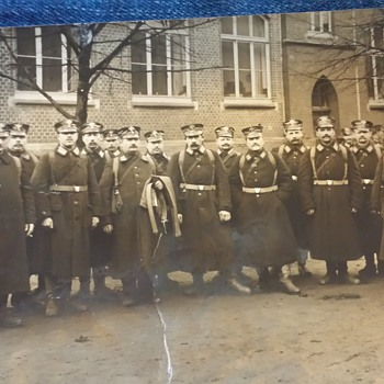 Vintage Foreign (German?) Military Photograph Postcard