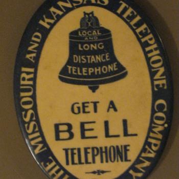 Missouri & Kansas Telephone Pocket Mirror - Telephones