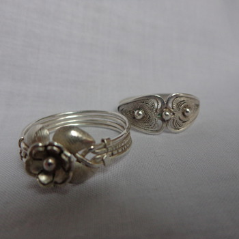 925 Silver Filigree Rings Hand-Made in Paraguay