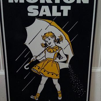 MORTONS SALT ADVERTISEMENT TIN - Advertising