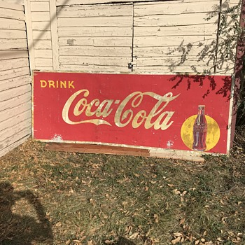 "115"" x 44"" Coca Cola sign, need help - Coca-Cola"