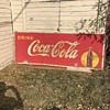 "115"" x 44"" Coca Cola sign, need help"