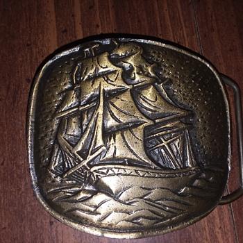 Schooner belt buckle  - Accessories
