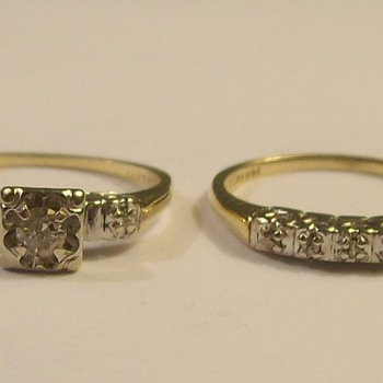 Vintage Wedding/Engagement Set 1950's - Fine Jewelry