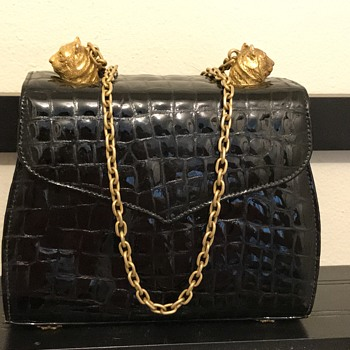 My favorite black and gold leather bag - Bags