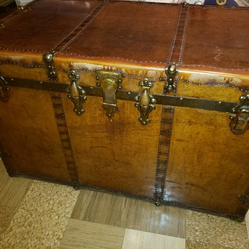 Flat Top Steamer Trunk - Furniture