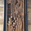Asian 3D wooden carved framed scene
