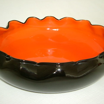 Kralik Art Deco Tango Glass Bowl - Art Glass