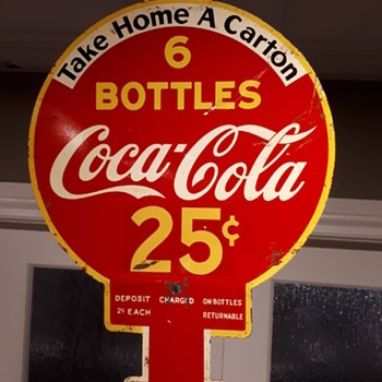 1938 Coca Cola rack sign - Coca-Cola