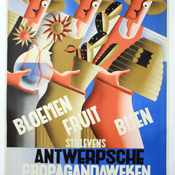 Belgian Art Deco Exhibition Poster - Art Deco