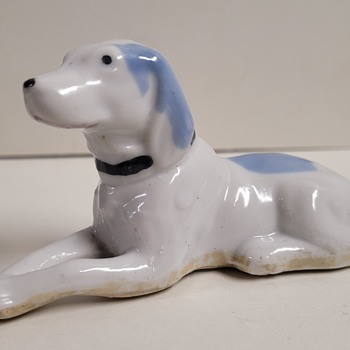 Japanese Porcelain Dog Figure - Asian