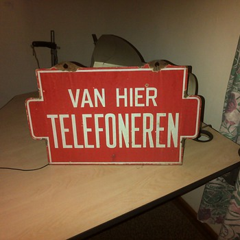 High Dutch telephone sign - Signs