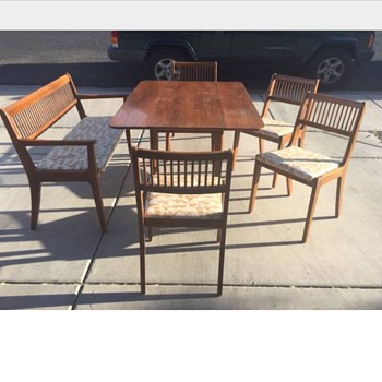 Mid Century  Table and Bench/Chair set - Mid-Century Modern