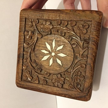 Wooden carved box from India?