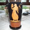 Harrach Basalt glass vase with classical lady