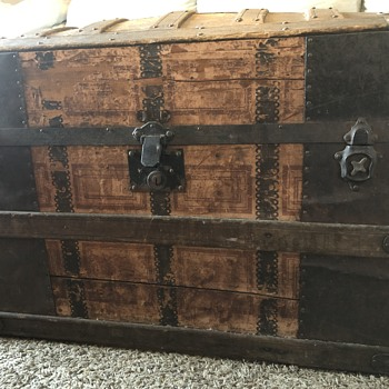 Want to Learn More About This Antique Steamer Trunk - Furniture