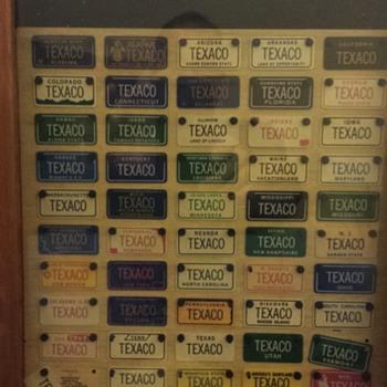 Texaco License Plates