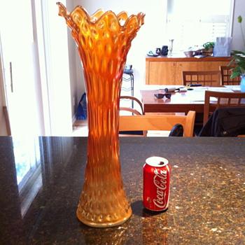 Funeral Vase Fenton? Carnival? Rare?  - Glassware