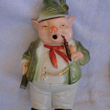 German Well Dressed Pig Decanter