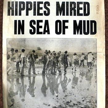 Sunday August 17, 1969 NY Sunday News Woodstock Issue - Music Memorabilia