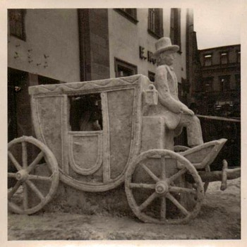 1950's Photos - Snow Sculpture in Heidelberg Germany - Photographs