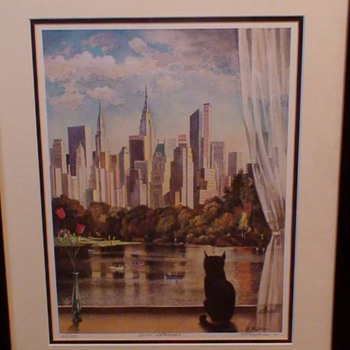 """""""Quiet Afternoon"""" Erik Freyman Signed, Titled & Numbered in Pencil 108/950"""