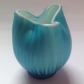Victorian Sateen glass toothpick holder - John Walsh Walsh