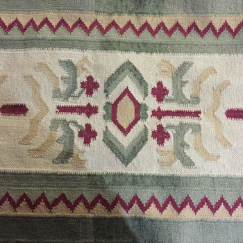 Newly Acquired Flat Weave Rug - Design is perplexing to me.  Thoughts? - Rugs and Textiles