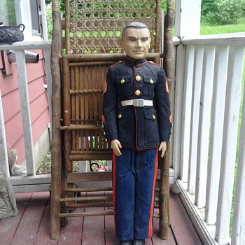 Please help ID. 33 inch 1950's Marine Doll - Dolls