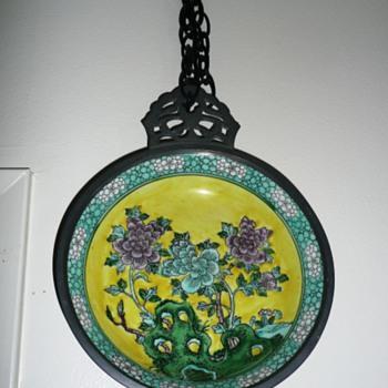 Plate incase in metal - Asian