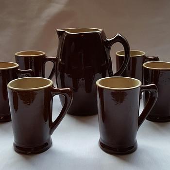 Pottery Pitcher and Mugs - Pottery