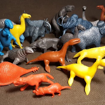 MPC Prehistoric Animals Dinosaurs and Mammals 1960s - Advertising