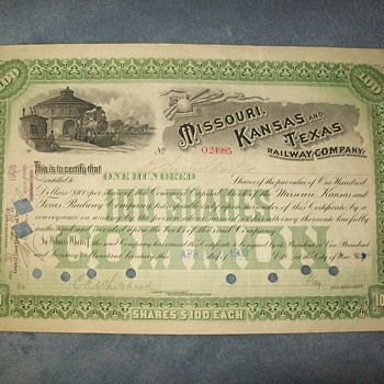More Railraod stock certificates. - Railroadiana