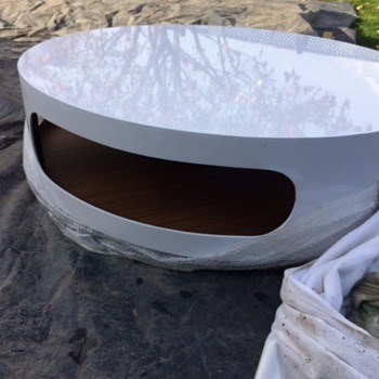 Flying Saucer Atomic Space Age Coffee Table ? - Furniture