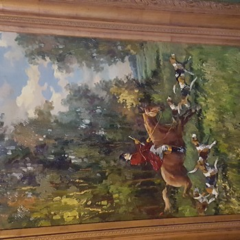 Beautiful Traditional Painting of an English Hunting Scene - Fine Art