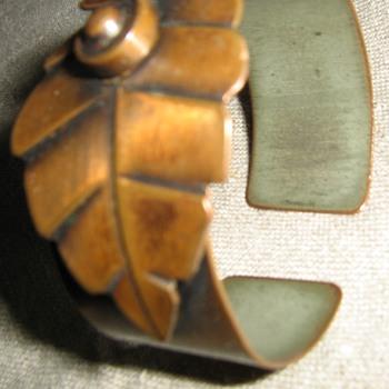 2 copper bracelets from Rebajes 1950's - Costume Jewelry
