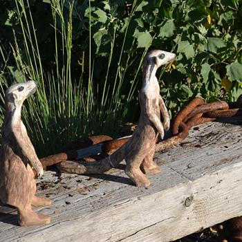 Three of My Four Meerkats - Animals