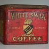 RARE, very early 1900's White Swan Coffee Tin