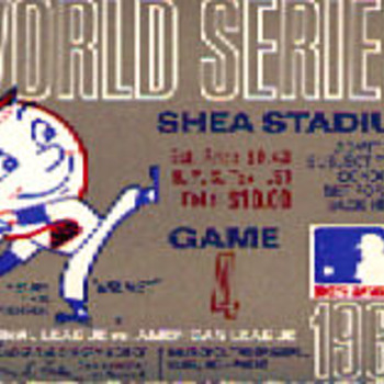 NY METS 1969 World Series Game 4 Ticket stub
