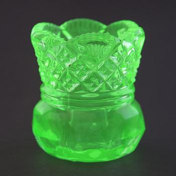 Two Vaseline Glass Items - Kitchen