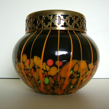 Kralik Rose Bowl - Art Glass