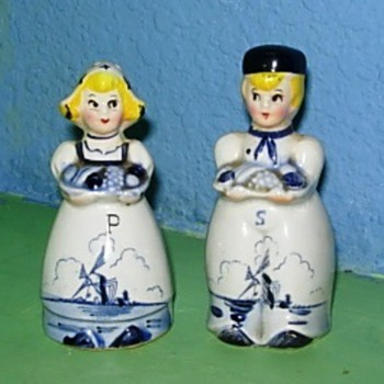 Not so delft salt and pepper shakers - Kitchen