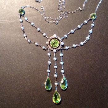 Art Nouveau swag necklace - Fine Jewelry