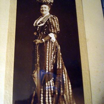 Lady in Seersucker Dress