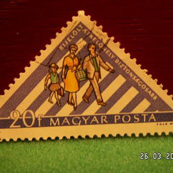 Vintage Magyar Posta 20f Stamp